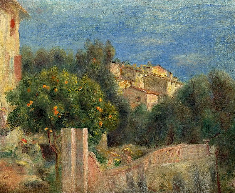 Pierre Auguste Renoir - The Artists House in Cagnes. Sotheby's