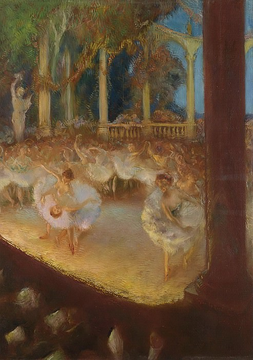 Gaston La Touche - Ballerinas in the Theatre - The Ballet. Sotheby's