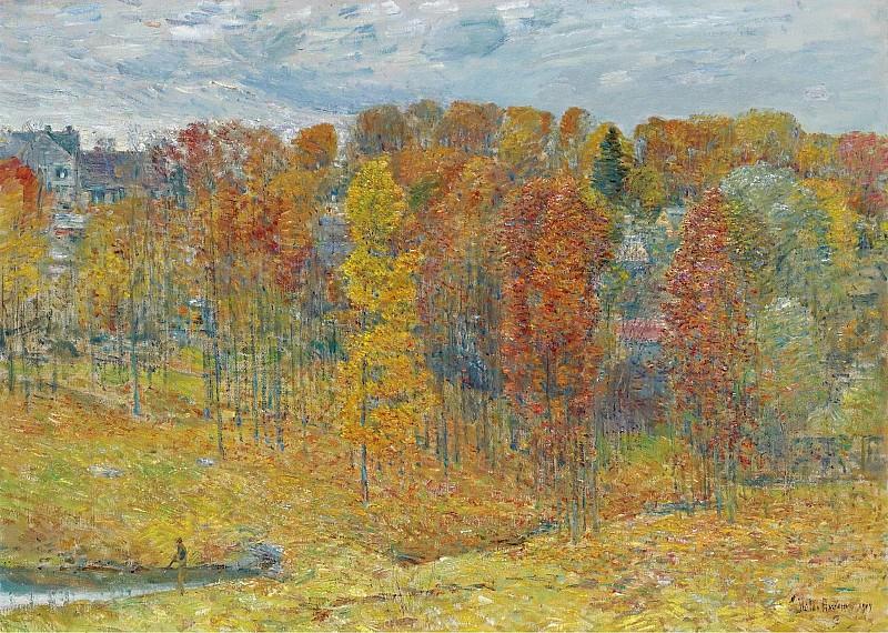 Frederick Childe Hassam - Autumn, 1909. Sotheby's