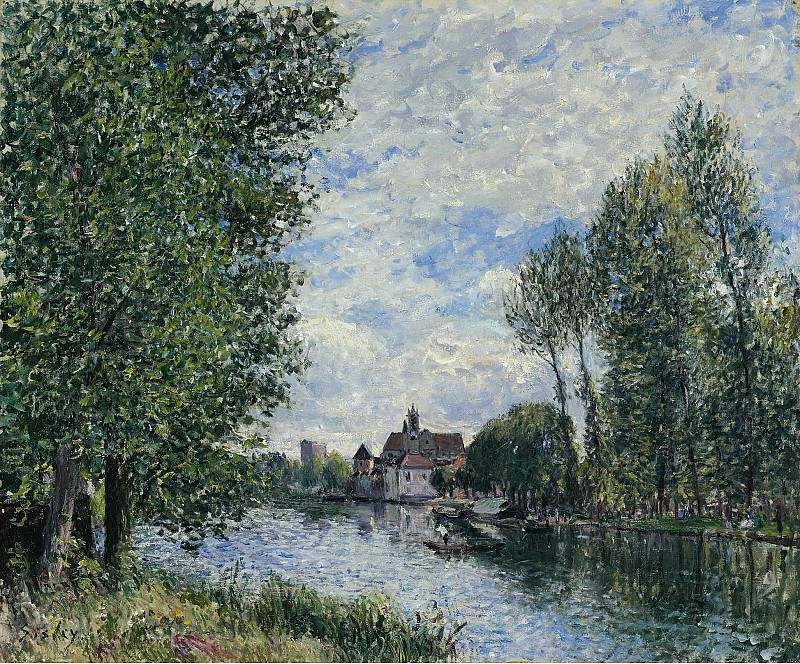Alfred Sisley - The Summer in Moret, 1888. Sotheby's