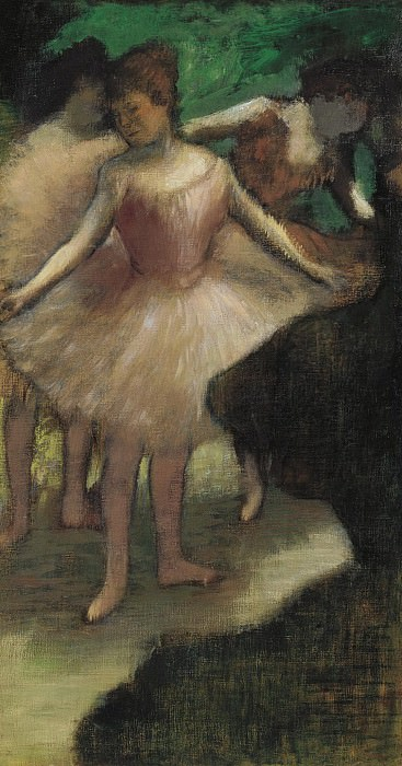 Edgar degas - Three Dancers in Pink, 1886. Sotheby's