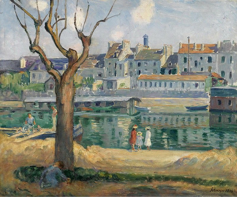 Henri Lebasque - View to the Quay of Pamponne, 1904. Sotheby's