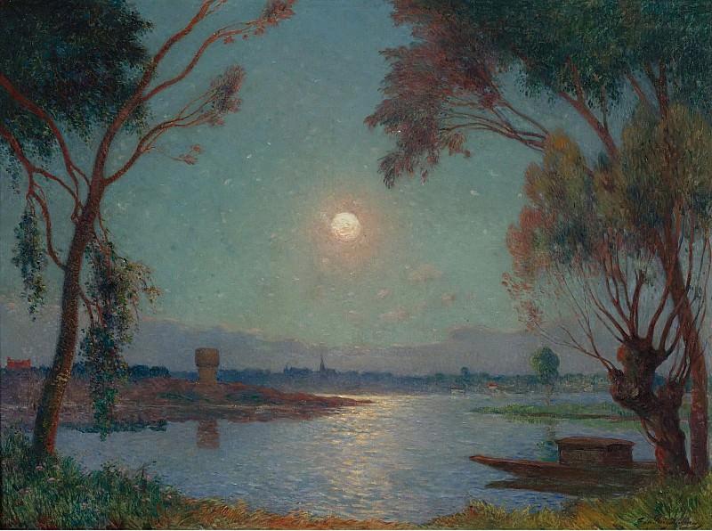 Ferdinand du Puigaudeau - The Bank of Loire under Clear Moon. Sotheby's