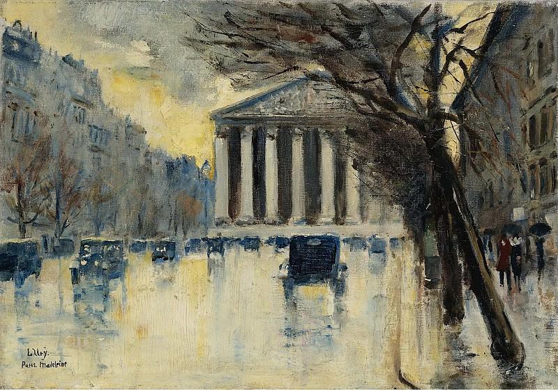 Lesser Ury - La Madeleine, 1928. Sotheby's