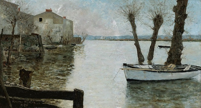 Maxime Maufra - The Flood, 1886. Sotheby's