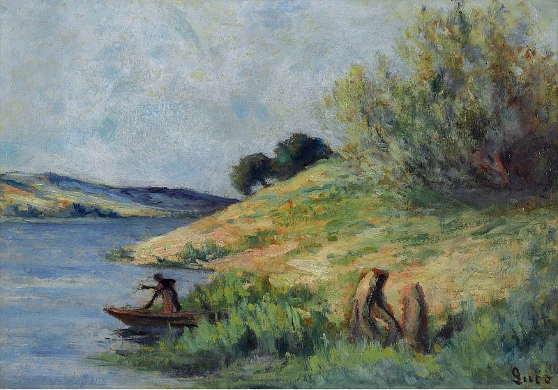 Maximilien Luce - Banks of the Seine. Sotheby's