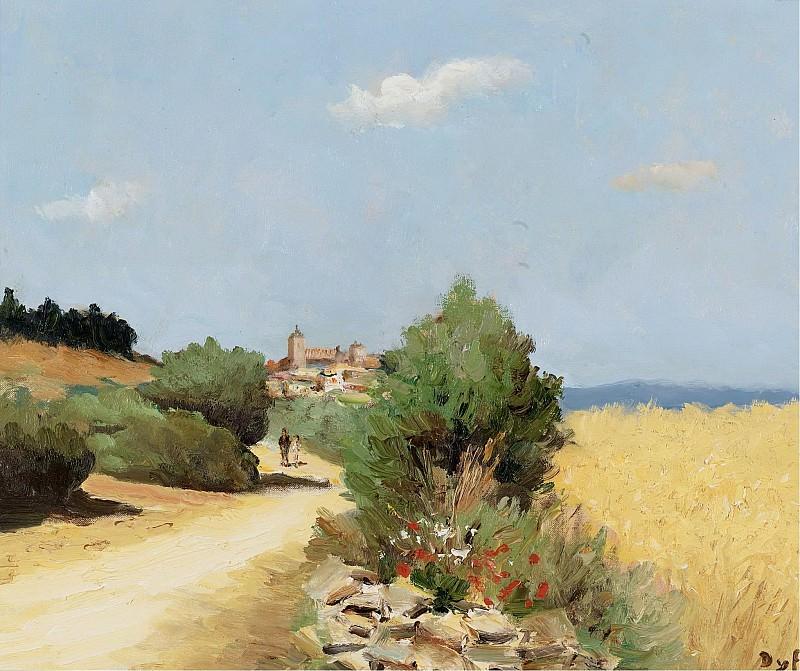 Marcel Dyf - Walking by the Wheatfield. Sotheby's