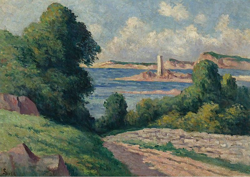 Maximilien Luce - The Estuary of Trieux 01. Sotheby's
