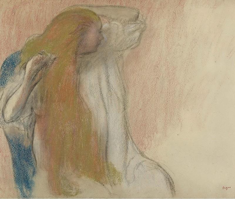 Edgar Degas - Woman Combing Her Hair, 1894. Sotheby's