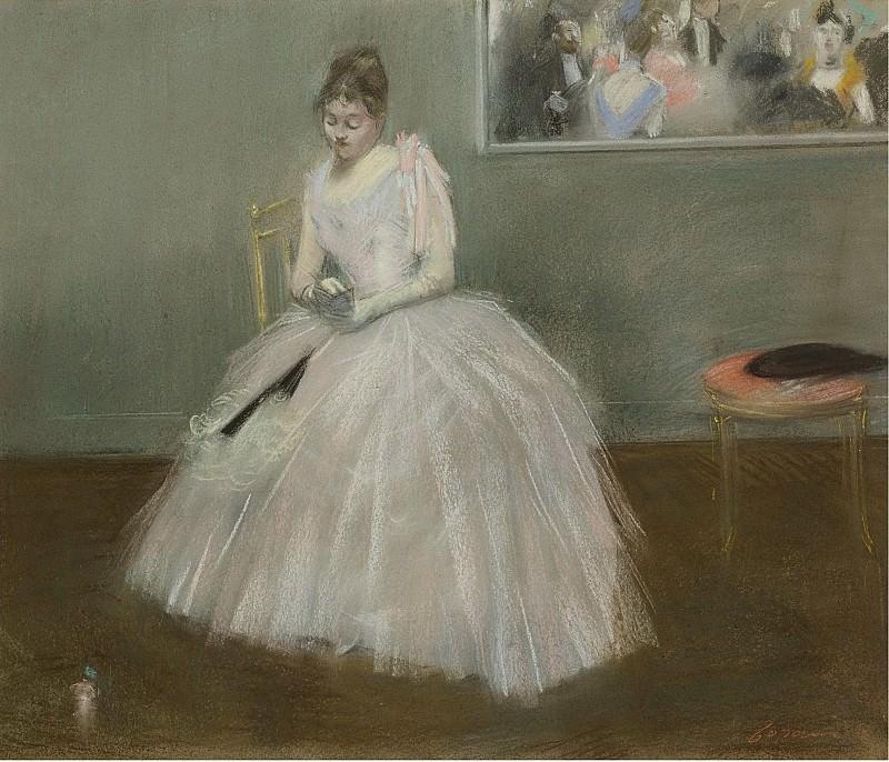 Jean-Louis Forain - Le Carnet de Bal, 1888. Sotheby's