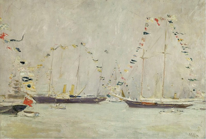 Paul Cesar Helleu - Yachts with Ensigns. Sotheby's