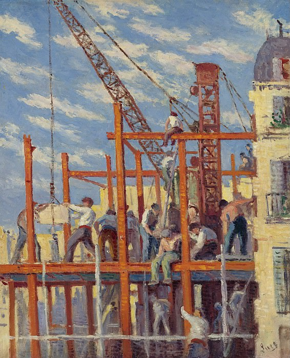 Maximilien Luce - The Scaffolding, 1910. Sotheby's