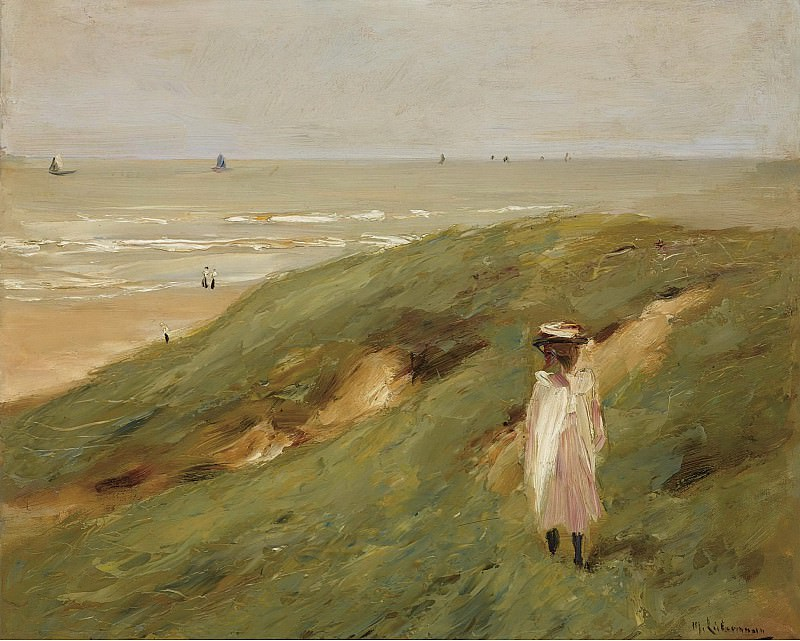 Max Liebermann - Dune near Nordwijk with Child, 1906. Sotheby's