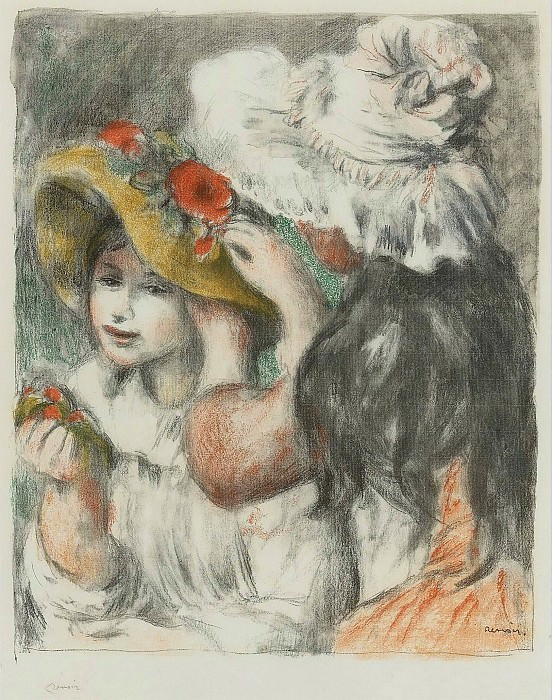 Pierre Auguste Renoir - The Hatpin, 1898. Sotheby's