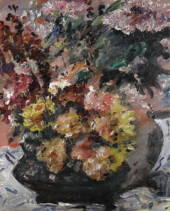 Lovis Corinth - Flowers in a Bronze Bucket, 1923. Sotheby's
