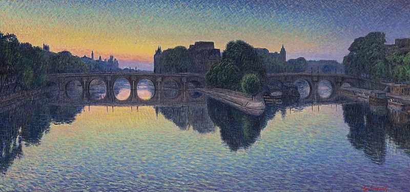 Gustave Cariot - Pont Neuf, Aurora. Sotheby's