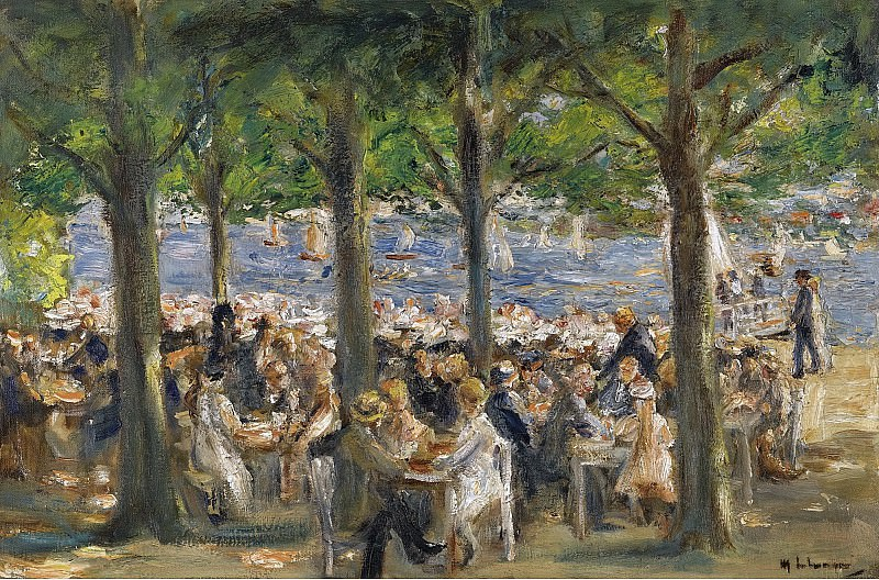 Max Liebermann - Beer Garden near the Havel under the Trees, 1920-22. Sotheby's