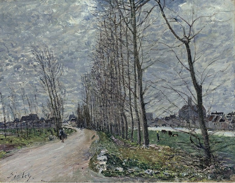 Alfred Sisley - View of Moret-sur-Loing, 1890. Sotheby's