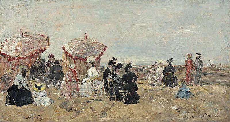 Eugene Boudin - Scene on the Beach, 1894. Sotheby's