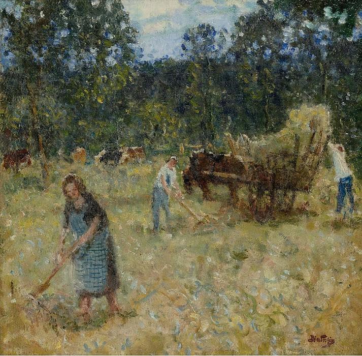 Pierre-Eugene Montezin - Hay-Mowing. Sotheby's