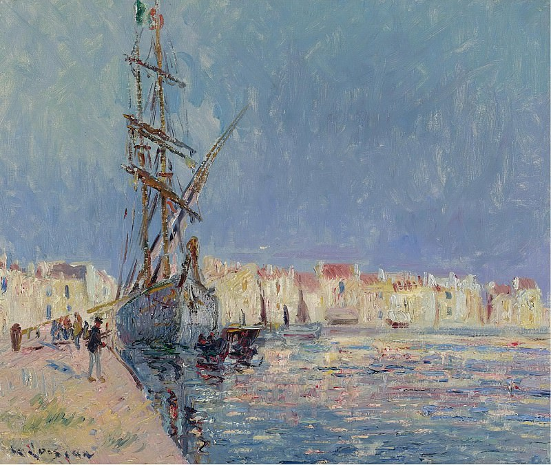 Gustave Loiseau - The Martigues, the Port of Ferriere, 1913. Sotheby's