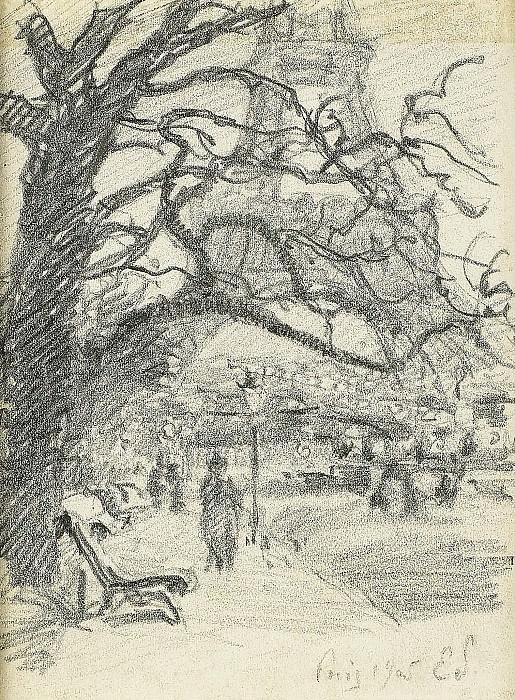Claude-Emile Schuffenecker - Paris, the Mars Field, 1905. Sotheby's