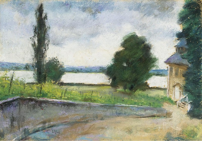 Lesser Ury - House by the Lake. Sotheby's