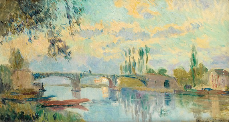 Albert Lebourg - The Bridge of Chatou, 1905. Sotheby's