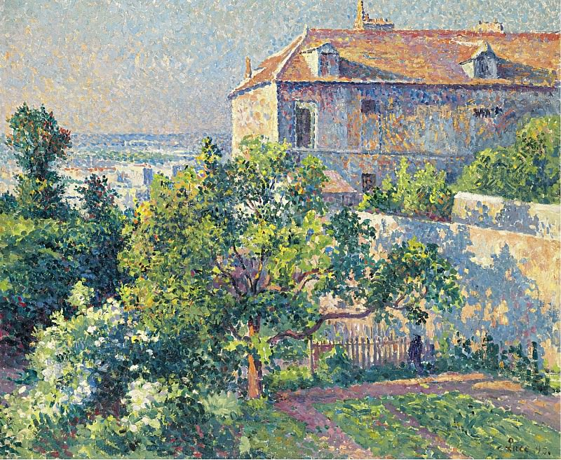 Maximilien Luce - Montmartre, the House of Suzanne Valadon, 1895. Sotheby's