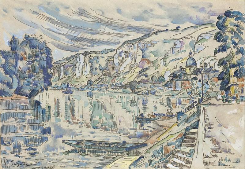 Paul Signac - Les Andelys, 1923 02. Sotheby's