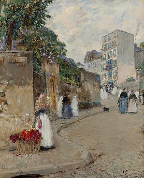 Гассам, Чайльд Фредерик - The Street of Montmartre, Paris. Картины с аукционов Sotheby's