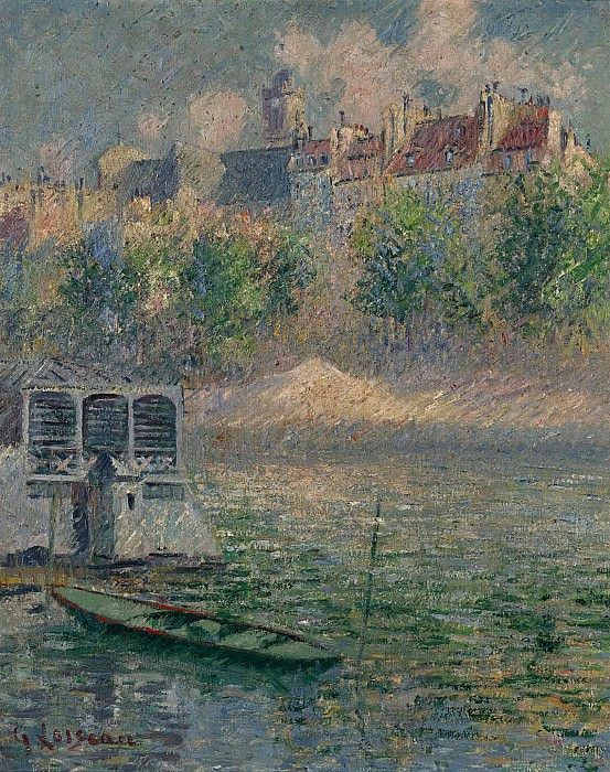 Gustave Loiseau - The Quay of Hotel-de-Ville, Paris, 1918. Sotheby's