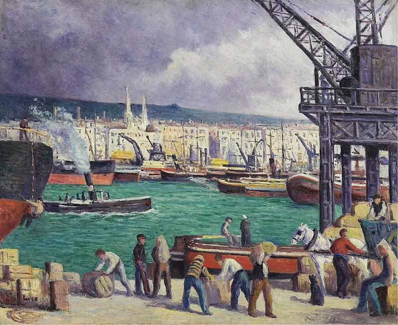 Maximilien Luce - Rouen, the Port, 1913. Sotheby's