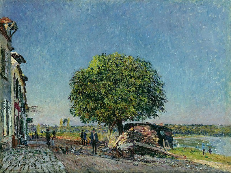 Alfred Sisley - The Chestnut Tree at Saint-Mammes, 1880. Sotheby's