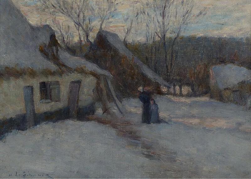Henri Le Sidaner - Snowy Landscape, Etaples, 1894. Sotheby's