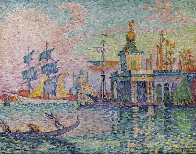 Paul Signac - Venice, Custom-House, 1908. Sotheby's