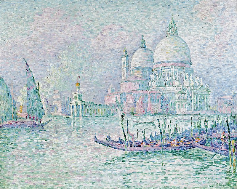 Paul Signac - Venice. The Salute. Green, 1908. Sotheby's