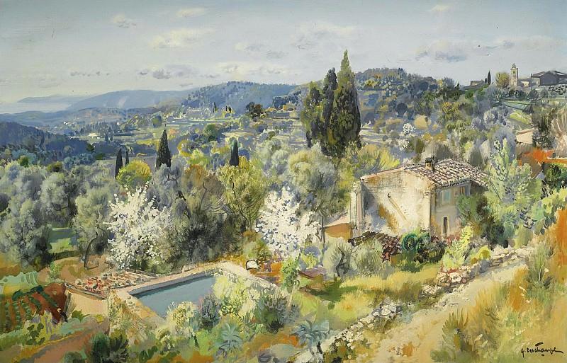 Gabriel Deschamps - Panorama of Eze. Sotheby's