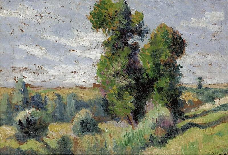 Maximilien Luce - Le Bosquet, 1909. Sotheby's