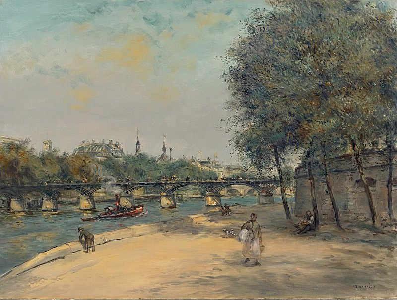 Jean-Francois Raffaelli - The Istitute of France and the Bridge of Arts. Картины с аукционов Sotheby's