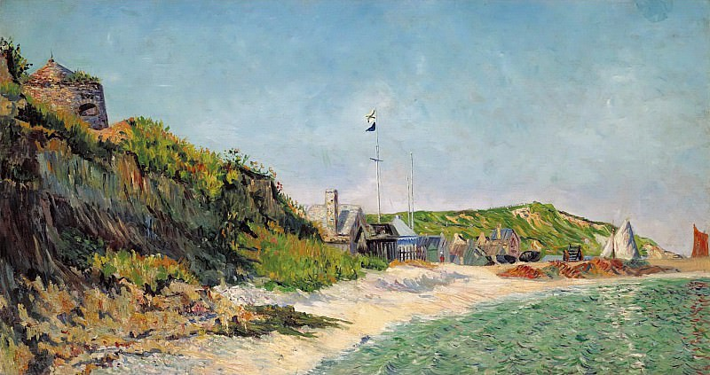 Paul Signac - Port-en-Bessin, the Beach, 1883. Sotheby's