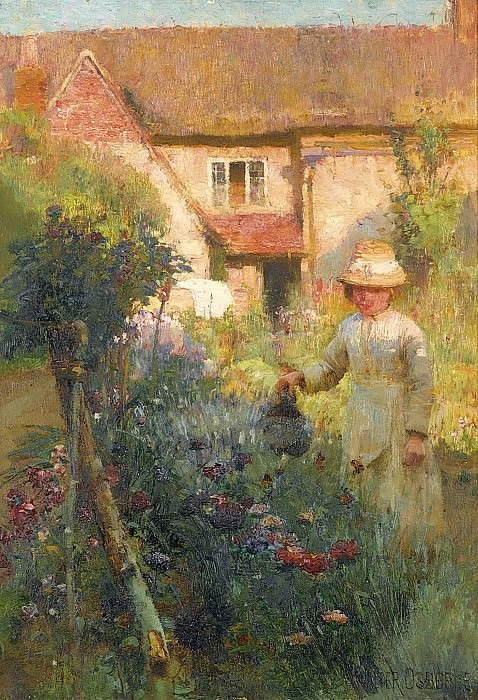 Walter Frederick Osborne - The Gadren. Sotheby's