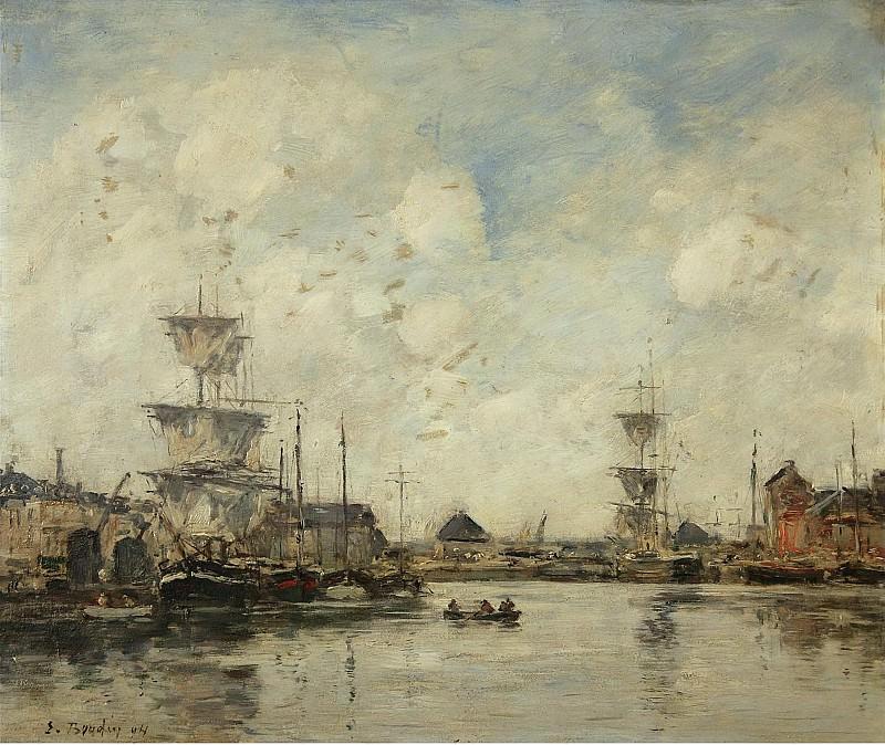 Eugene Boudin - Fecamp, the Basin, 1894. Картины с аукционов Sotheby's
