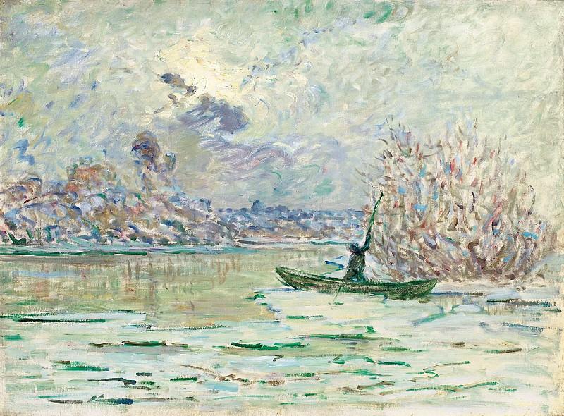 Claude Monet - The Winter, near Lavacourt, 1880. Картины с аукционов Sotheby's