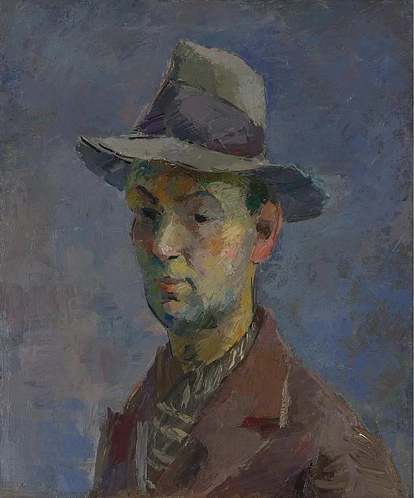 Фальк, Роберт Рафаилович - Self Portrait with Gray Hat, 1931. Картины с аукционов Sotheby's
