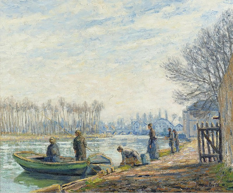Francis Picabia - Fishermen at Moret-sur-Loing, 1904-05. Sotheby's