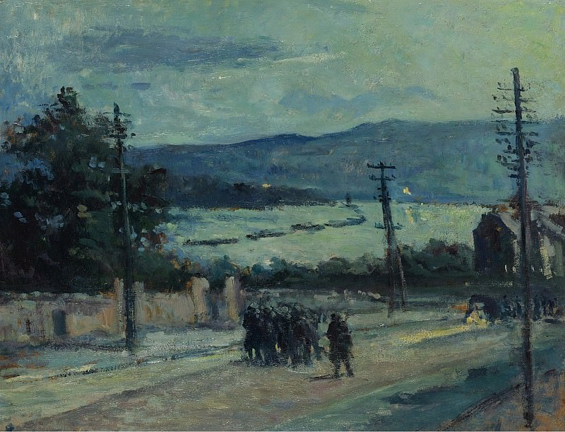 Maximilien Luce - Rolleboise, the Road, 1917. Sotheby's