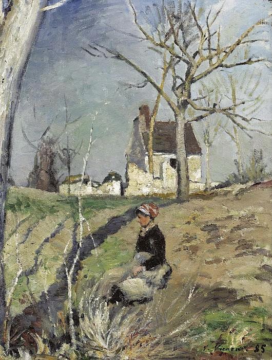 Victor Vignon - Farmers Wife near the House, 1885. Sotheby's