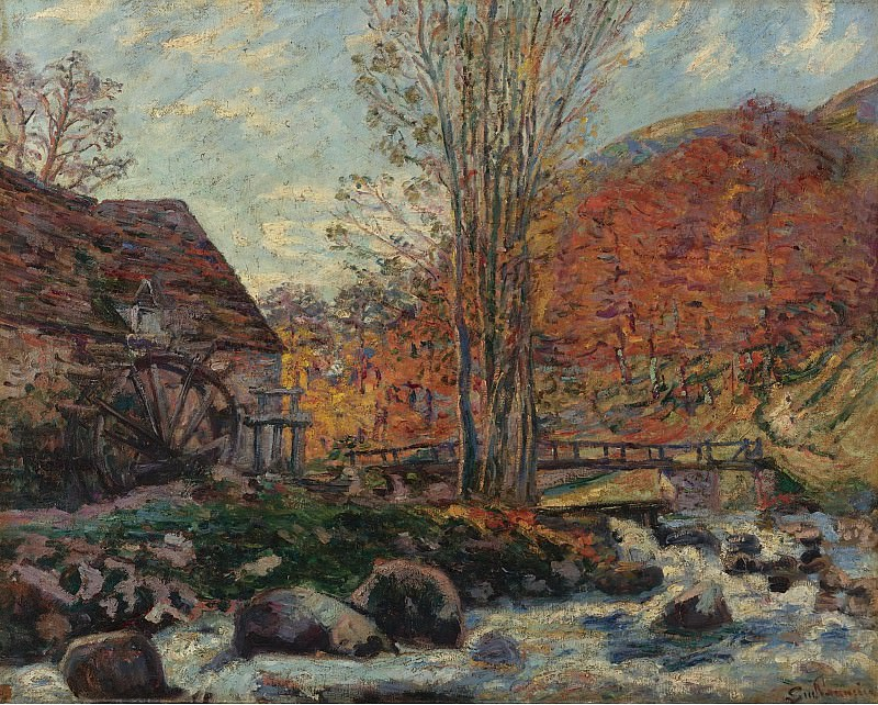 Armand Guillaumin - The Watermill, 1893. Sotheby's