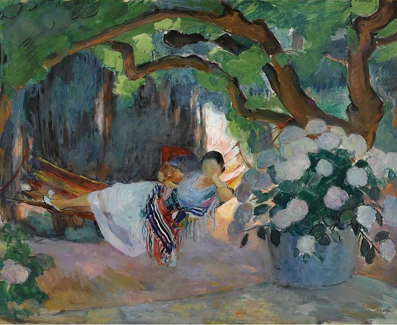 Henri Lebasque - Young Woman at Hammock, 1923. Картины с аукционов Sotheby's